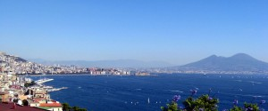 City of Naples, the Bay, Mt Vesuvius
