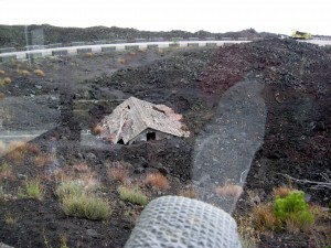 After recent lava flow